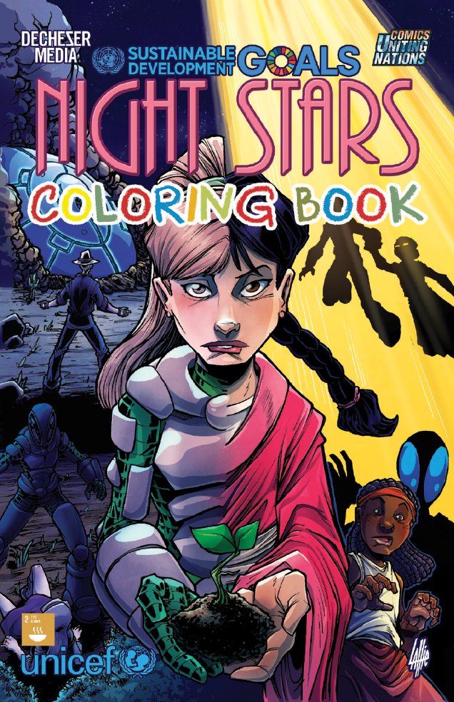 Night Stars COLORING BOOK cover